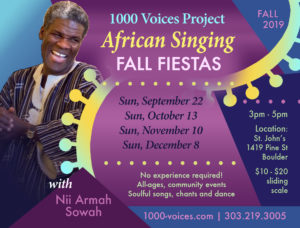 African Singing Fiestas - Fall 2019 @ St. John's Episcopal Church