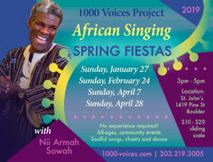 African Singing Fiestas - Spring 2019 @ St. John's Episcopal Church