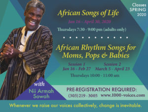 African Songs of Life (Adults) Spring 2020 @ St. John's Episcopal Church | Boulder | Colorado | United States